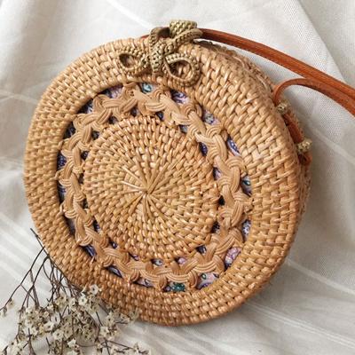Qoo10 - Round Rattan Bag   Bag   Wallet 900dea431dc3b