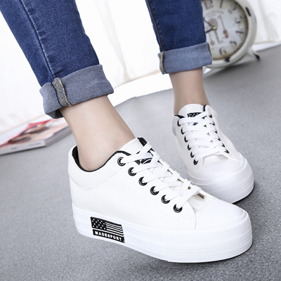 089097e3577 Qoo10 - Thick-soled platform shoes Korean wave leisure shoe laces of  students ...   Shoes