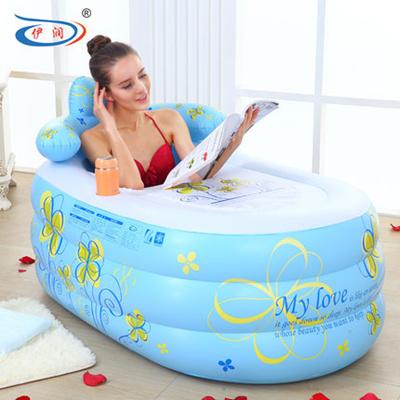 Cool Thickened Large Inflatable Bath Tub Adult Folding Bath Tub Bath Tub Swimming Pool Creativecarmelina Interior Chair Design Creativecarmelinacom