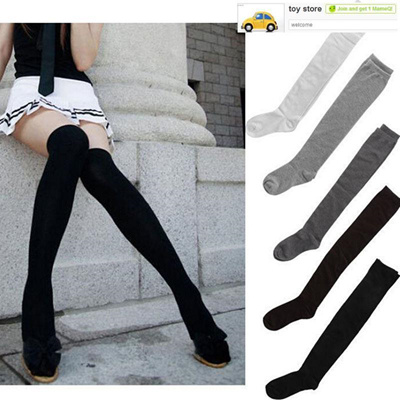 03d281904b399 Qoo10 - Thigh High Socks Sexy Women Girl Over Knee Socks Fashion Cotton  Knit S... : Underwear & Sock.