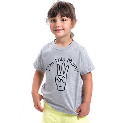 Third Birthday Shirt I M 3 T 3rd Year Old Age