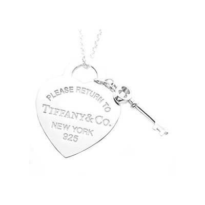 cf5723681 Qoo10 - TIFFANY sterling silver RTT return-to-heart tag & key pendant  necklace... : Men's Bags & Sho.