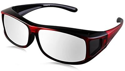 e2c4552427 TINHAO Polarized Solar Shield Fitover Sunglasses - Wear Over Prescription  Glasses.Mirrored lenses (S