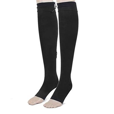 ba51c0e9ae Qoo10 - Tinksky 1 Pair Zippered Compression Stockings, Open Toe, Knee High  (Bl... : Men's Bags & Sho.