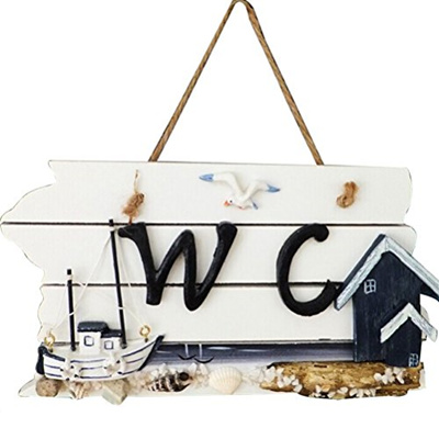 Qoo10 Tinksky Wall Hanging Wc Sign Wooden Instruction Board