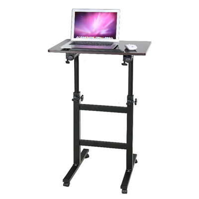 TLA006 Adjustable Computer Desk Rolling Laptop Table Standing Office Table  Side Table Mate Lifting