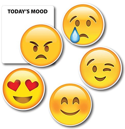 Today S Mood Emoji Magnet 5 Pack