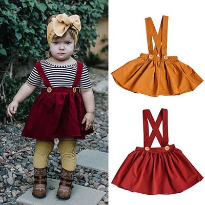 c219298ce12 Qoo10 - Toddler Infant Kids Baby Girl Suspender Skirt Overalls Sundress  Outfit...   Baby   Maternity