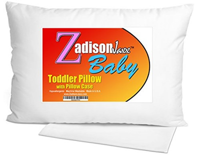 Toddler Pillow WITH PILLOWCASE + FREE BEDTIME STORY EBOOK! - Best Small  Pillows for Kids, Babies, or