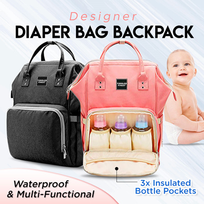 d92c7dd6f1cb ToddlerFinest❤️Designer Diaper Bag Backpack❤️ Travel Organizer Tote Nappy  Baby Bags for Girls/ Boys (Cherry Pink)