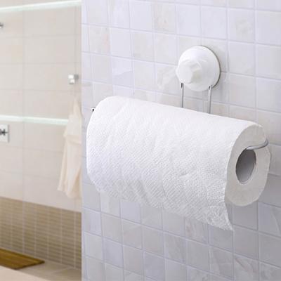 Toilet Paper Holder Bathroom Suction Hanger Tissue Rack Kitchen Towel Hook bb1439756f0f