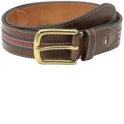 15dd38f029199 Qoo10 - Tommy Hilfiger Men s Casual Belt with Center Stripe Stitch Detail    Fashion Accessories