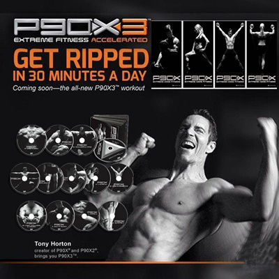 Tony Hortons P90X/P90X2/P90X3 DVD Workout – Base Kit