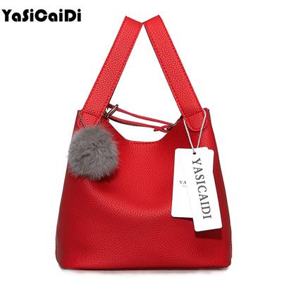 8f027a2ae701 Top-Handle Women Bags Fashion Womens Pu Leather Handbags Black Women Bag  Tassel Fur Bag