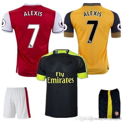 nice shoes 1ff10 4e1c0 Top Quality 2016 2017 Arsenal jerseys kit Away home 3RD goalkeeper Jersey  WILSHERE OZIL WALCOTT RAMS