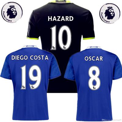 promo code 211f9 7e77d Top Thai 16/17 Blues Chelsea Jersey 2016 Chelsea Football Rugby Jerseys  Shirt HAZARD OSCAR DIEGO COS