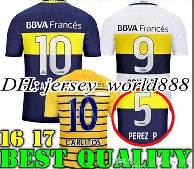 hot sale online 36a3f 10e26 Top Thai quality 2016 2017 Boca Juniors Soccer Jersey Home Away 3RD 16 17  Boca Juniors GAGO OSVALDO