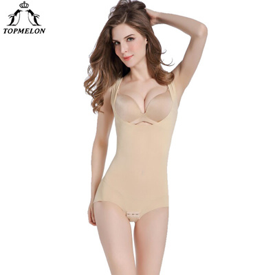 3d25deb48f TOPMELON Women Modeling Strap Bodysuit Full Body Shaper Seamless Shapewear  Slim Girdle Waist Cincher