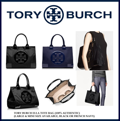 Tory Burch Ella Tote (Large or Mini Size) (100% Authentic) Limited