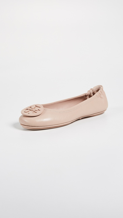 [Shipping from USA]Tory Burch Minnie Travel Ballet Flats