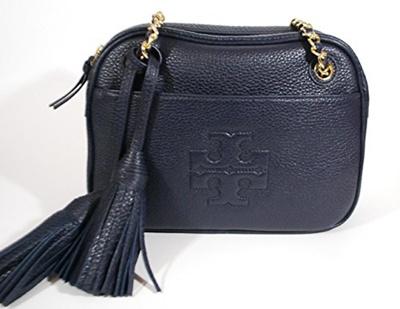 7870a39f7d5e Qoo10 - Tory Burch Thea Navy Blue Leather Crossbody Chain   Bag   Wallet