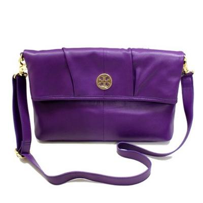 [TORY BURCH] 19129582 - Imperial Purple Verona Foldover Messenger Bag  (Purple) #