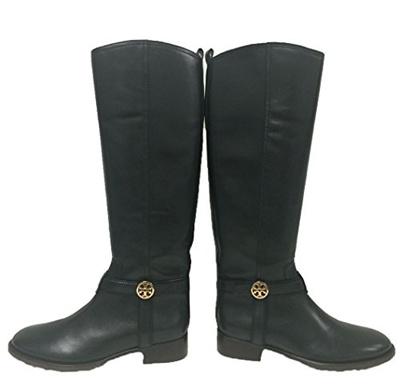 085ff39b6d01 Qoo10 - (Tory Burch) Tory Burch Bristol Equestrian Riding Boot Black  Leather S...   Perfume   Luxury.