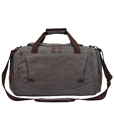 Toupons Men S Overnight Bag Canvas Weekend Travel Duffel Carry On