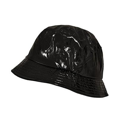Qoo10 - Toutacoo, Waterproof Wax Style Bucket Rain Hat 01-Black   Fashion  Accessories 80f1095720e