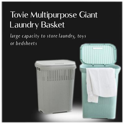 Tovie Multipurpose Giant Laundry Basket Stylish And Elegant Suitable For Toys