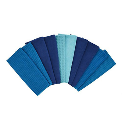 Town Country Microfiber Kitchen Towels 10 Pack Blue