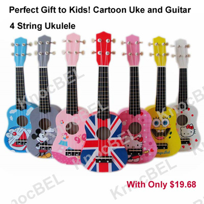 ce2db3c44 Toy Cute Cartoon Ukulele/ Mini Guitar (Hello Kitty Micky Mouse) Perfect gift  could