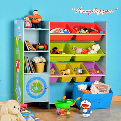 Toy Storage Shelf Book Kids Toys Rack Furniture Cabinet