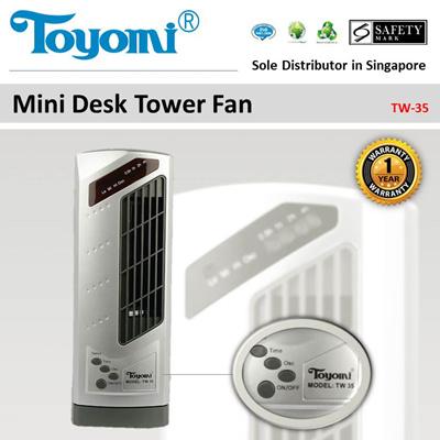 Toyomi Mini Desk Tower Fan Model Tw 35 Official Warranty Set