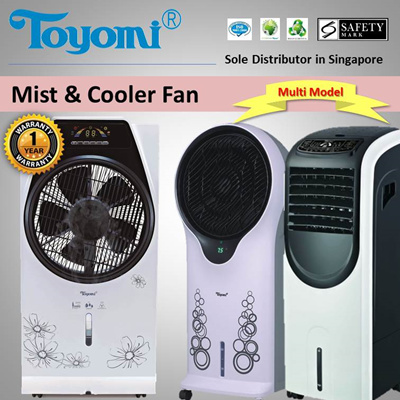ToyomiTOYOMI Mist / Cooler Box Fan with Humidifier Model: [MBF4984]  [AC1953] [AC2902] [AC3988] - Official TOYOMI Warranty Set  1 Year Warranty   Sole
