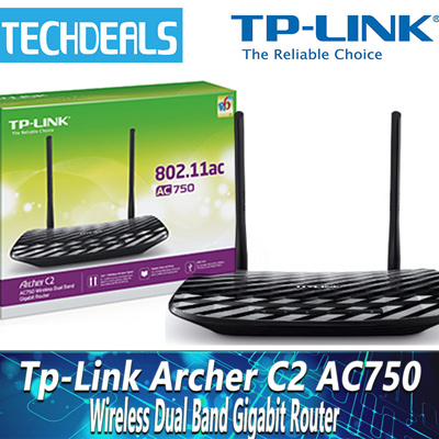 Qoo10 Tp Link Archer C2 Ac750 Wireless Dual Band Gigabit Router Computer Amp Games