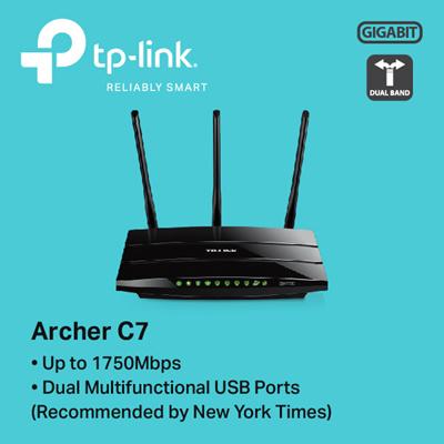 TPLinkTP-LINK Archer C7 AC1750 Wireless Dual Band Gigabit Router - 3 YEARS  LOCAL WARRANTY