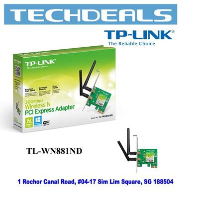 TPLinkTP-Link TL-WN881ND 300Mbps Wi-Fi PCI Express Adapter