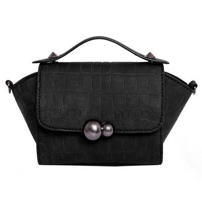 528d65417caa Qoo10 - Trapeze Stone Gourd lock Mini Small Women s Handbag Hand Bag Ladies  PU...   Bag   Wallet