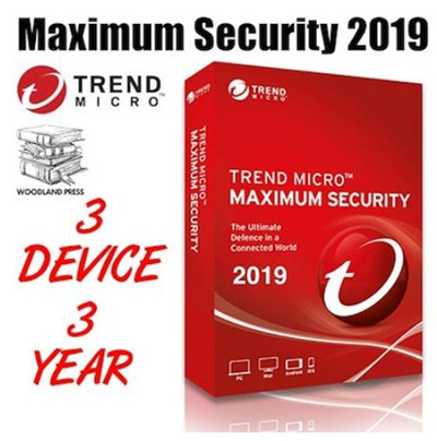 Trend Micro Maximum Security 2019-3 Year 3 User Antivirus Software - Lowest  Price Guarantee