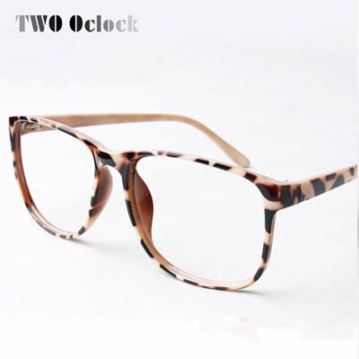 Trendy Women Leopard Print Gles Frame Ultra Light Eyegles Frames Decorate Eyewear Without