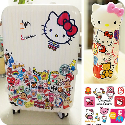 qoo10 trolley luggage suitcase stickers box sticker car sticker