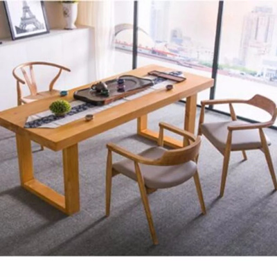 Tsdt00w Solid Wood Dining Table Tea Office Meeting Room Type