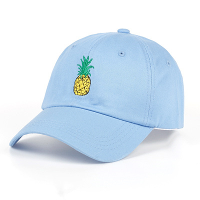 TUNICA Pineapple Embroidery Baseball Cap Cotton 100% Hipster Hat Fruit  Pineapple Dad Hat Hip Hop e63639a17a2