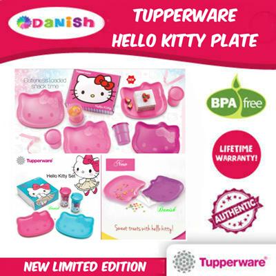 372c55e8b ☆Tupperware☆ Hello Kitty Plate Tumbler Set*BPA Free*Gift Present/School