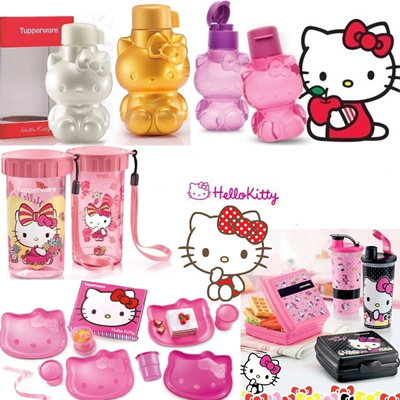 8b40fdeed Hello Kitty Bottle ☆ Authentic Tupperware ☆ Water Bottle * Plate * Lunch  Box * BPA