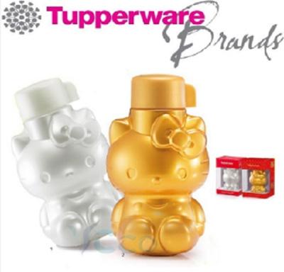 13de00de9 Qoo10 - Tupperware Pearl and Gold Prosperity Hello Kitty Bottle 425ml (2) :  Kitchen & Dining