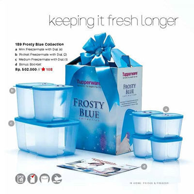 Tupperware Frosty Blue Collection An Enjoyable Color Container Package For Storage At Fre