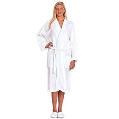 90640b33ab Qoo10 - Turquaz Linen Lightweight Long Waffle Kimono Unisex Spa Robe    Underwear   Socks
