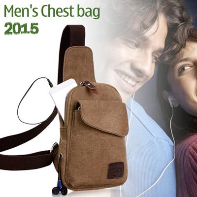 653072701612 TV Mens Chest bag Messenger bag Korean version of casual men canvas bag /  shoulder sports bag chest